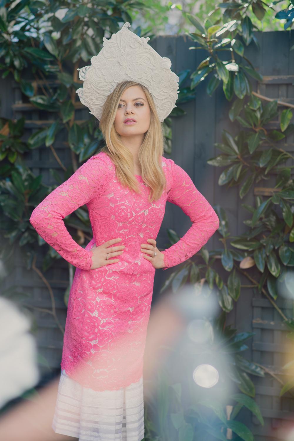 dkny pink dress