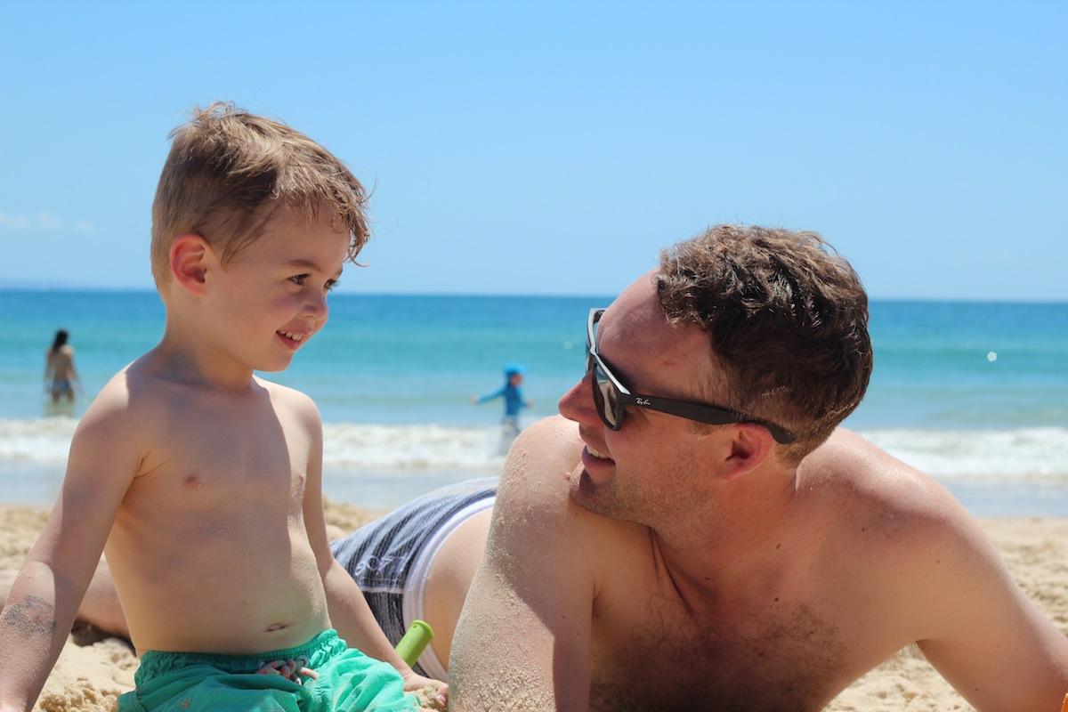 noosa beach sun