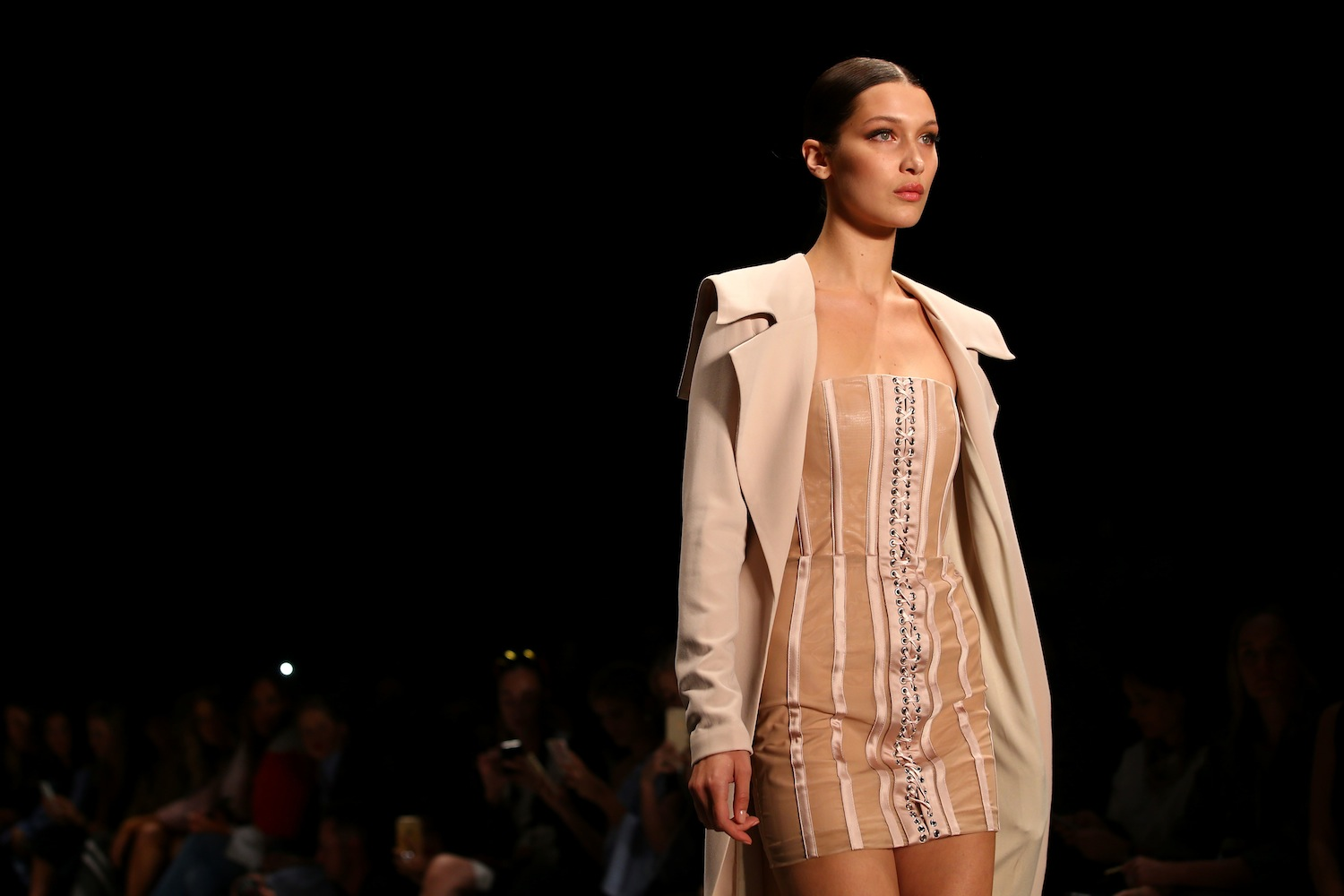 SYDNEY, AUSTRALIA - MAY 16: Model Bella Hadid walks the runway during the Misha Collection show at Mercedes-Benz Fashion Week Resort 17 Collections at Carriageworks on May 16, 2016 in Sydney, Australia. (Photo by Mark Nolan/Getty Images) *** Local Caption *** Bella Hadid