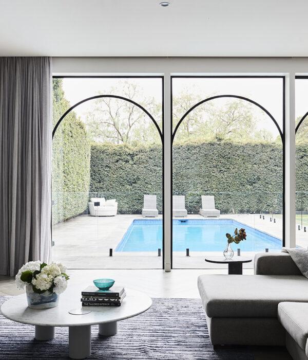 arch steel windows